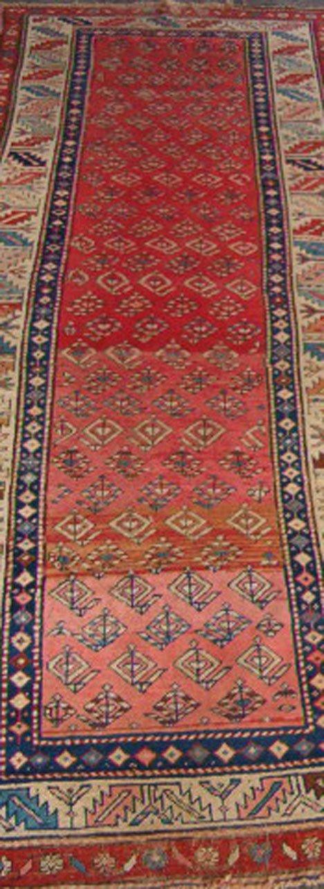 547: Karabagh long rug, south caucasus ca. late 19th ce