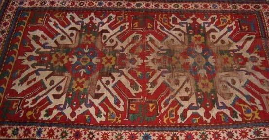 554: Chelaberd rug, south caucasus, c. 2nd half 19th ce