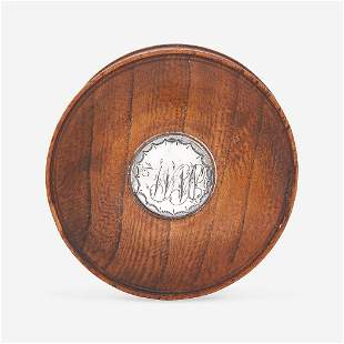 """A patch box made from William Penn's """"Treaty Elm"""" early"""