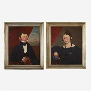 Isaac Sheffield (1807-1845) Pair of Portraits: Captain