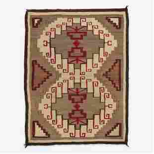 A Navajo Rug probably Crystal, New Mexico, early 20th
