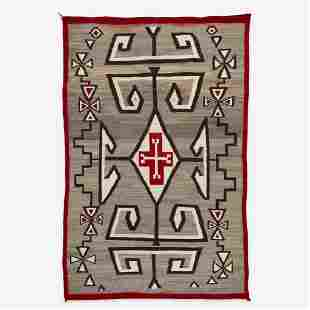 A large Navajo Rug Attributed to  J.B. Moore, Crystal,