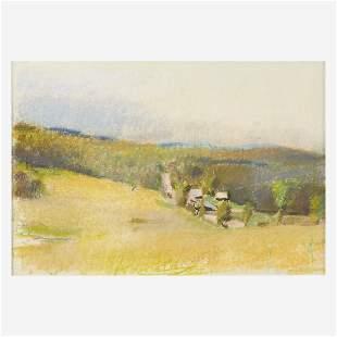 Wolf Kahn (American/German, 1927-2020) Landscape