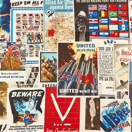 [Posters] [World War II] Group of 20 Allied Powers