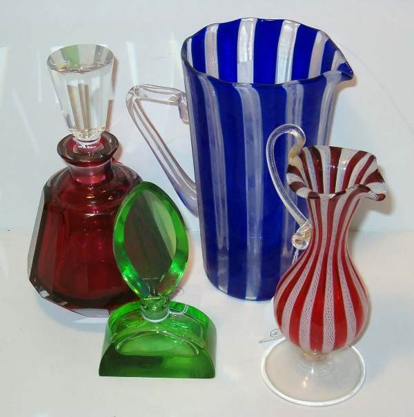 2004: Two Pitchers, a Decanter and Scent Bottle, 20th c