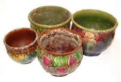 2006: Four Piece Pottery Jardineres, 20th c., The 4 pie