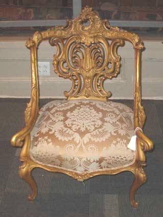 2009: Giltwood Salon Armchair, 19th c., Having a heavil