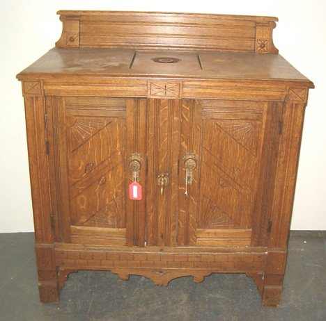 2013: Victorian Oak Cased Ice Box, late 19th c., The mo