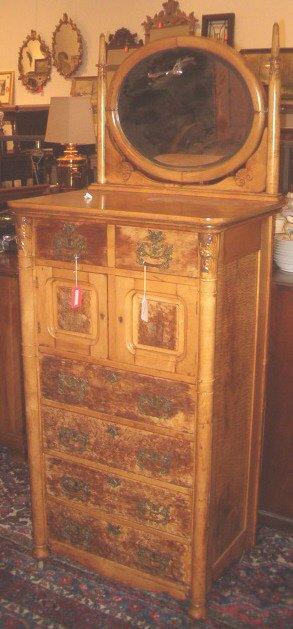 2015: Birds-eye Maple Mirror Back Dresser, early 20th c