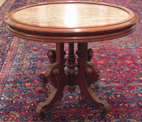 2016: Victorian Oval Center Table, late 19th c., Having