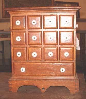 2017: Oak Spice Cabinet, 19th / 20th c., Having a squar