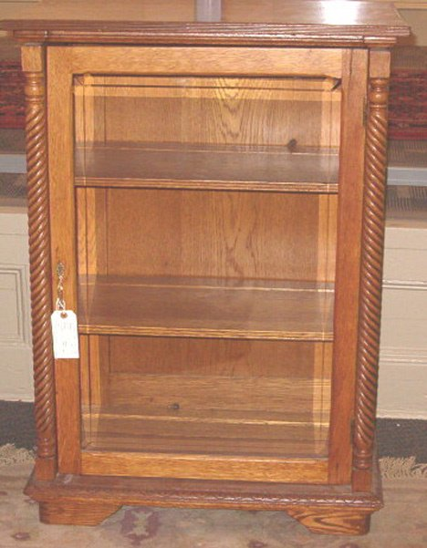 2018: Oak Display Cabinet, late 19th c., The small cabi