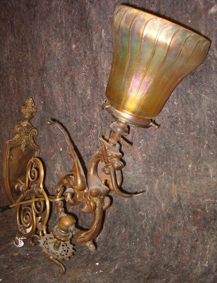 2019: Griffin Form Electrified Gas Light Fixture, 19th