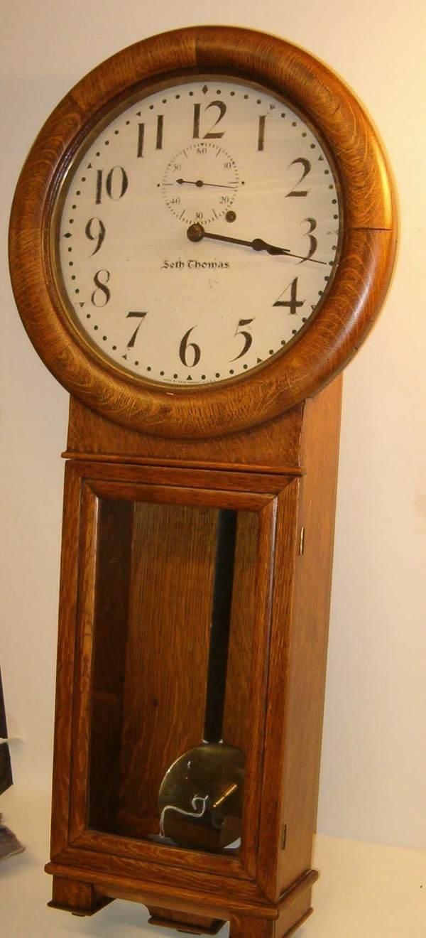 2023: Seth Thomas Regulator Wall Clock, 19th c., The oa