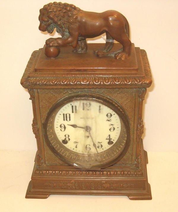 2024: Seth Thomas Mantel Clock, 20th c., The square bro