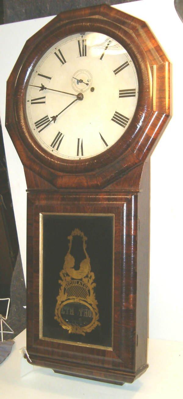 2025: Seth Thomas Regulator Wall Clock, 19th c., Having