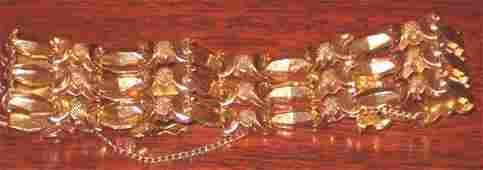 2085: Lady's 18k Yellow Gold Flexible Bracelet, 20th c.