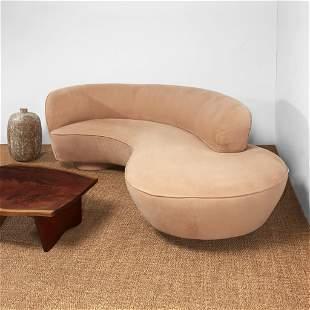 Vladimir Kagan Serpentine Sofa, Directional, USA, circa