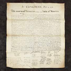 In Congress July 4 1776, The unanimous Declaration