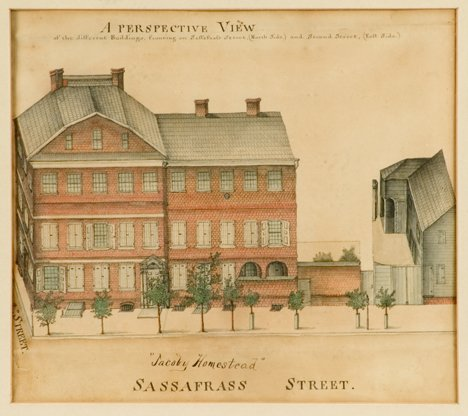 4001: American school 19th century, a perspective view