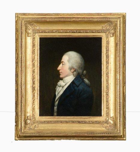 4006: English school 19th century, portrait of a gentle