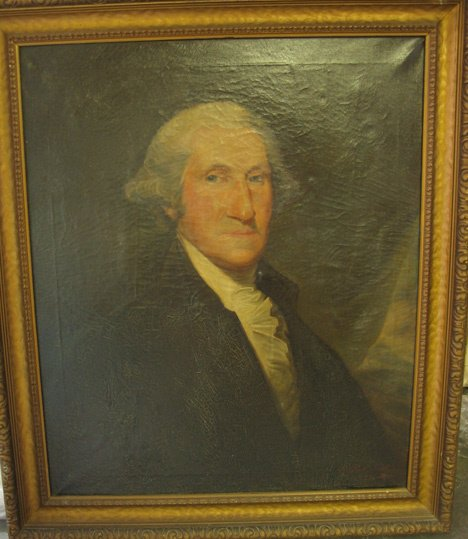 4006A: American school 19th century, portrait of George
