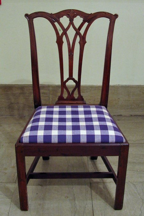 4007A: Chippendale carved mahogany side chair, philadel