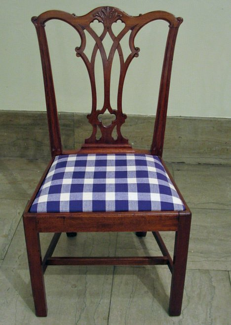 4007B: Chippendale carved mahogany side chair, philadel