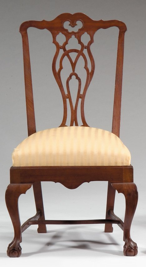 4009: Chippendale mahogany side chair, new york, late 1
