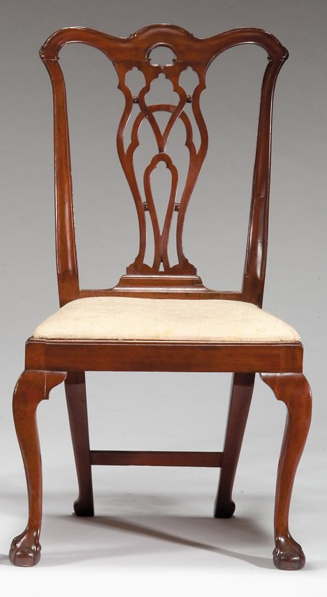4010: Chippendale mahogany side chair, new york, late 1