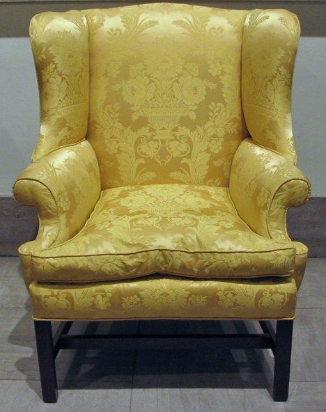 4010B: George III mahogany Wing Chair, second half 18th