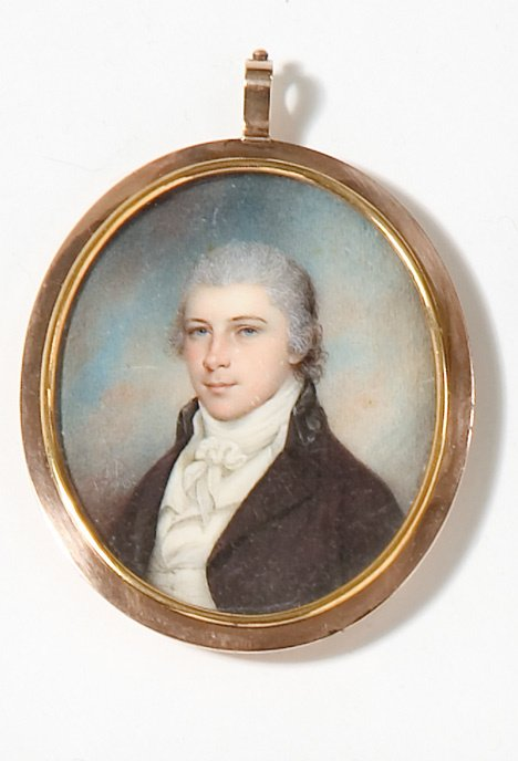 4016: James Peale (1749-1831), miniature portrait of jo