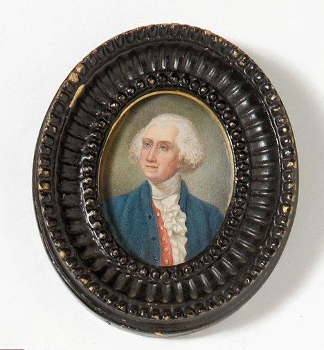 4017: Continental school 19th century, miniature portra