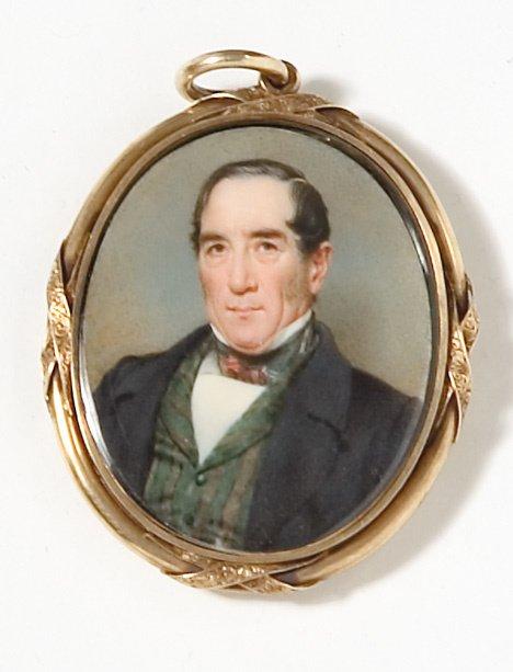 4019: American school 19th century, miniature portrait