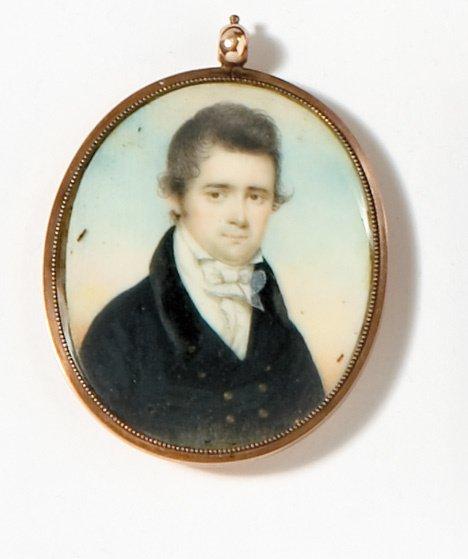4020: American school 19th century, miniature portrait