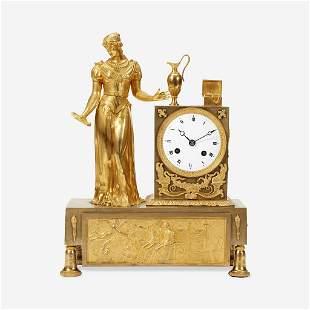 A French Gilt Bronze Mantel Clock 19th century