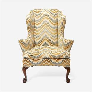 A George III Carved Mahogany Easy Chair Late 18th