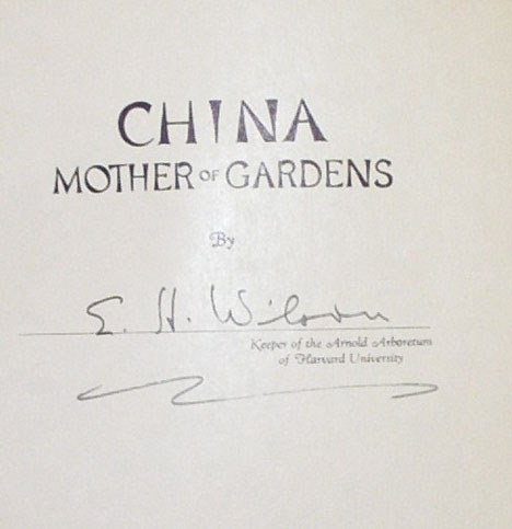5007: 1 vol. Wilson, Ernest H. China: Mother of Gardens