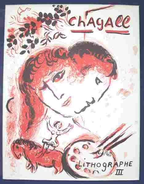 5211: 1 vol. (Chagall, Marc.) Chagall Lithographe, 1962