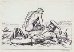 86 PAUL CADMUS american 19041999 TWO BOYS ON A BEAC