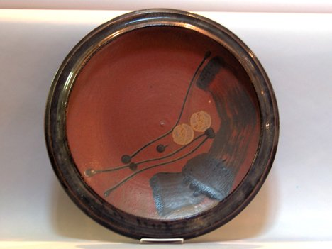 1001: Contemporary art pottery charger, ,