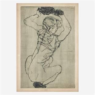 Egon Schiele (Austrian, 1890-1918) Kauernde (Squatting