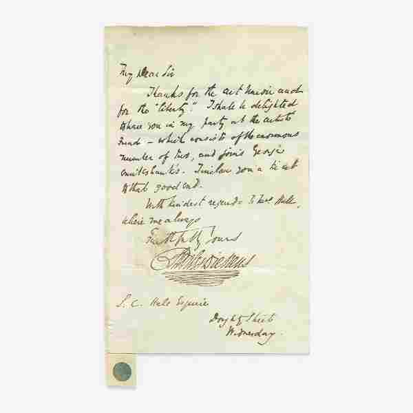 [Literature] Dickens, Charles Autograph Letter, signed