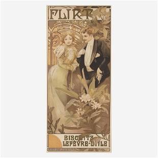 [Posters] Mucha, Alphonso Flirt, Biscuits Lefè