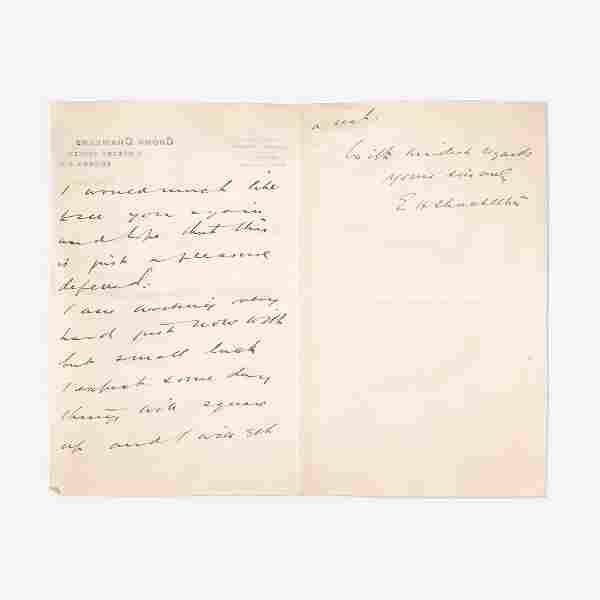 [Travel & Exploration] Shackleton, Ernest Autograph