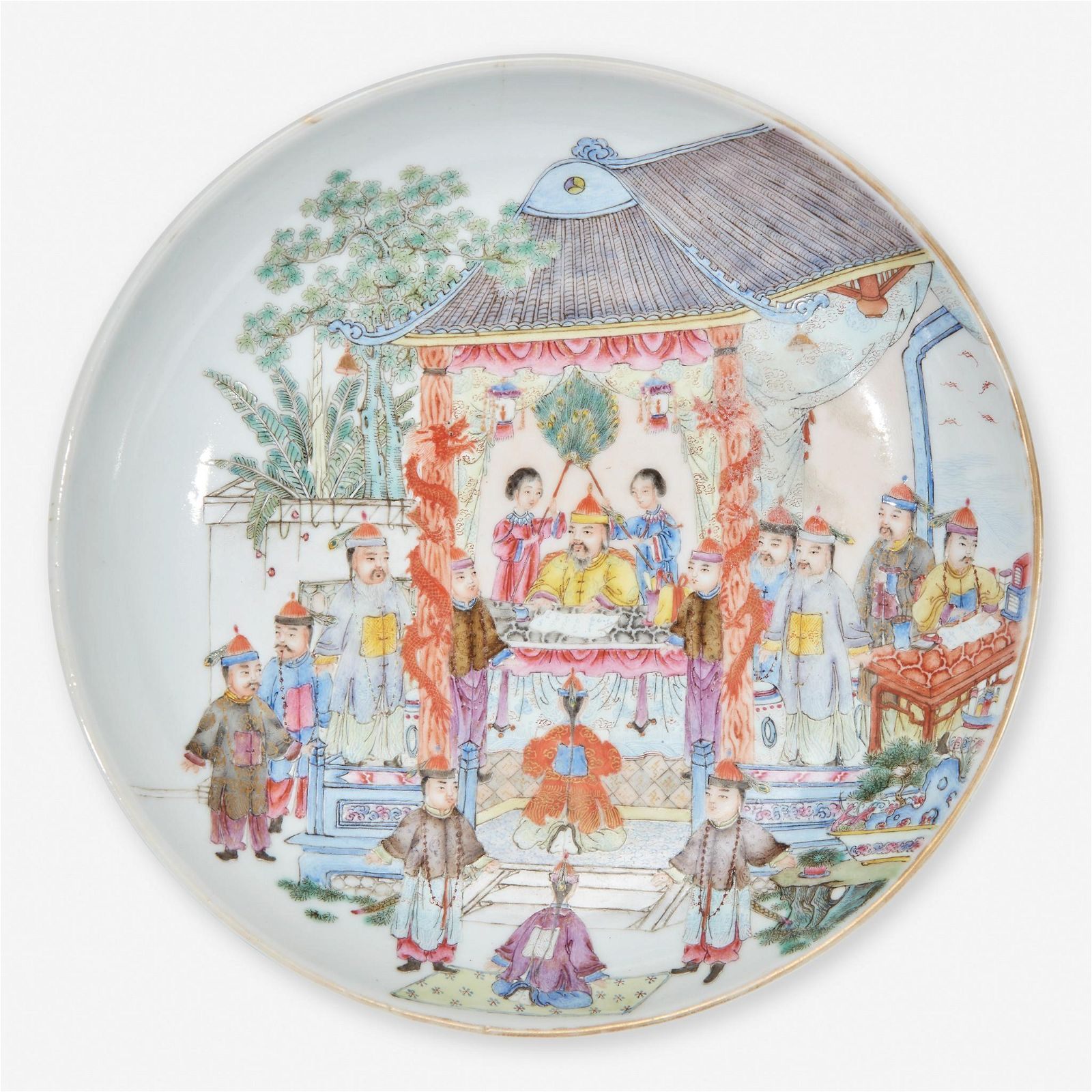 A Chinese famille rose-decorated porcelain small dish