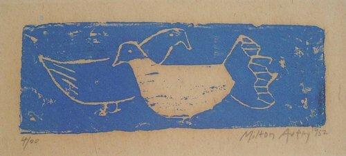 6: MILTON AVERY (American 1893-1965) TWO BIRD