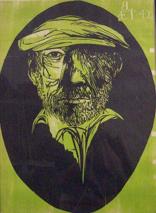 14: LEONARD BASKIN (American 1922-2000) SELF-
