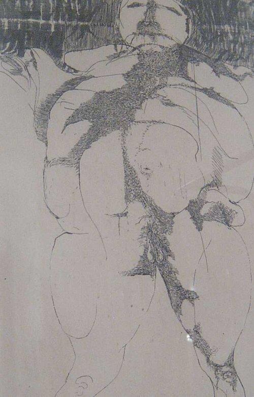 15: LEONARD BASKIN (American 1922-2000) DEATH