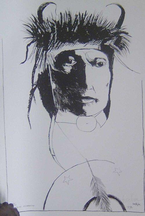 22: LEONARD BASKIN (American 1922-2000) CHIEF